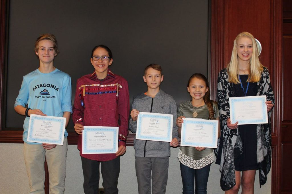 middle school students recipients