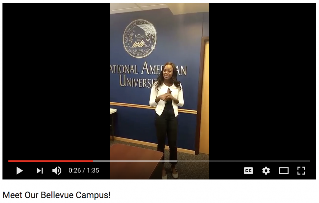 nau bellevue campus screenshot
