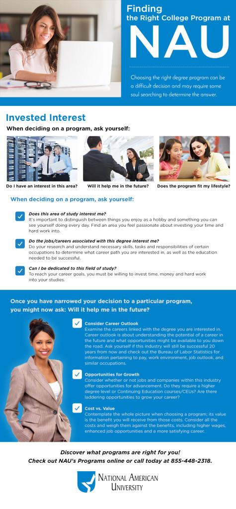 NAU College Programs Infographic