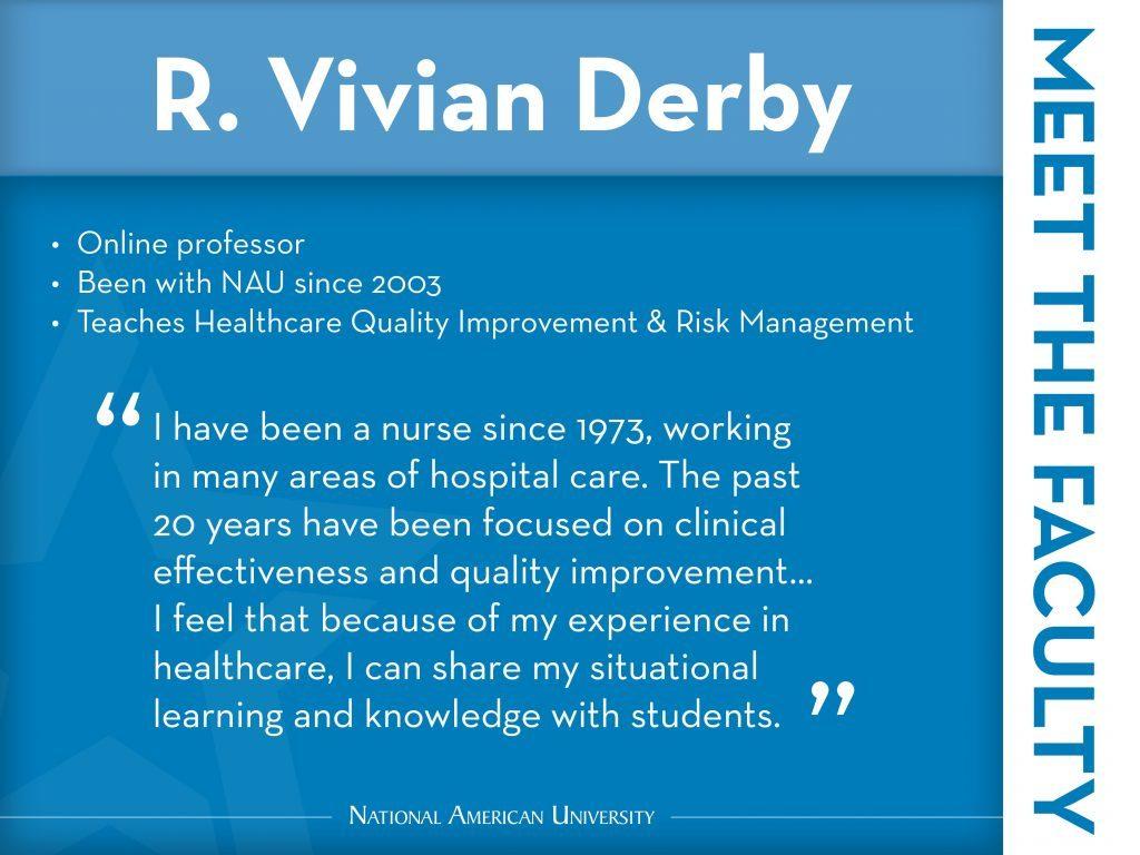 r. vivian derby professor testimonial