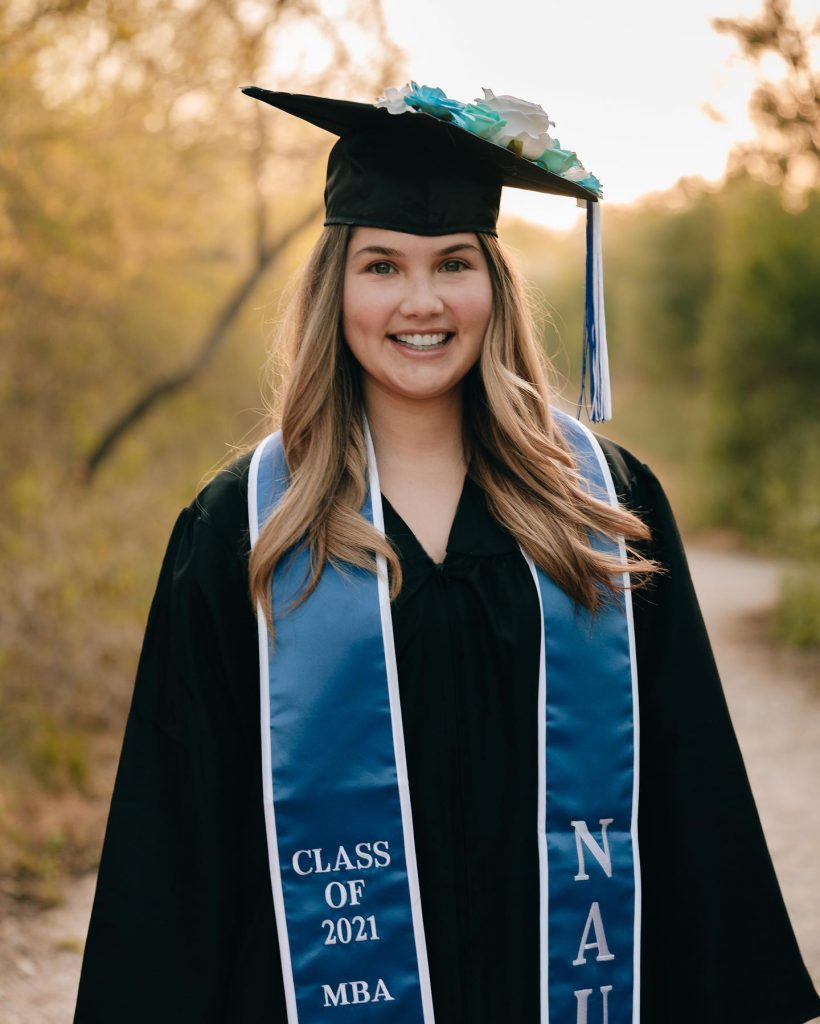 Ashley Salinas Alumni Spotlight - Ashley earned her Master of Business Administration (MBA) from National American University. She is looking to get her Doctor of Education (EdD).